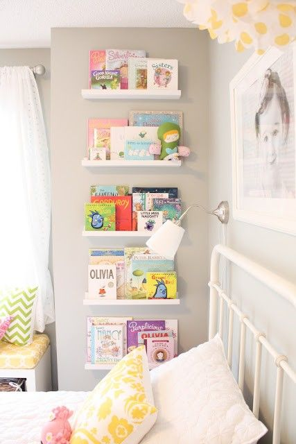 Cimaise Bois Ikea : Book Shelves in Kids Room