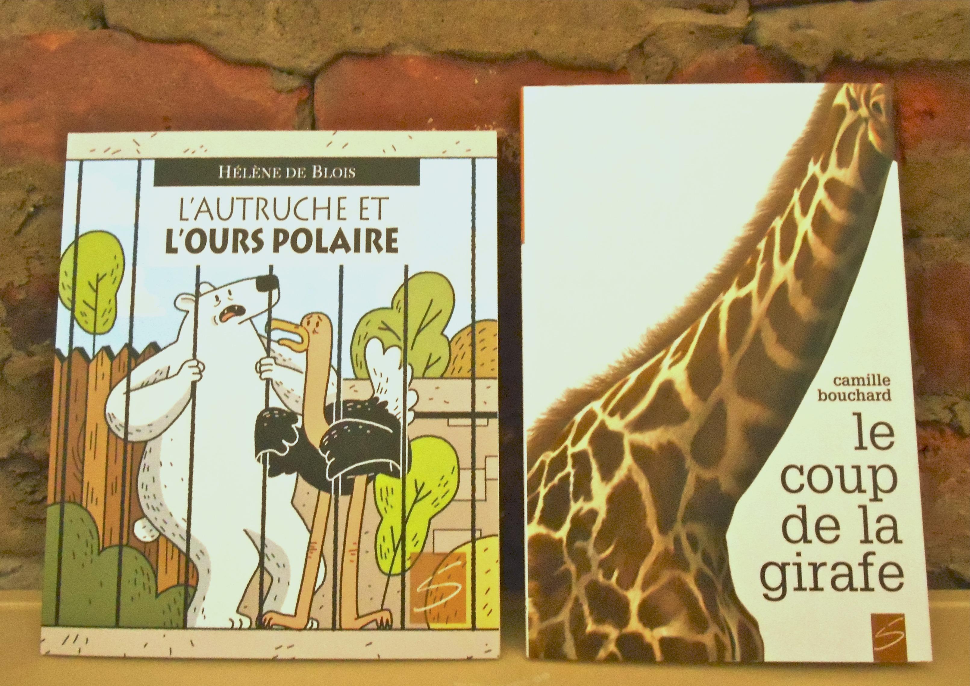 Duo Soulières éditeur : L'autruche et l'ours polaire & Le coup de la girafe !