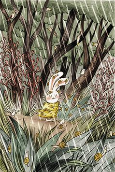 Lapinette et ses amis escargots, par Cathon! Photo : commedesgeants.com