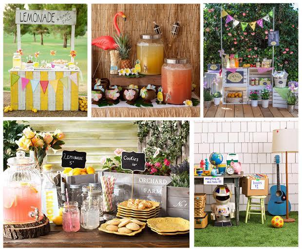 L'été c'est fait pour jouer - le kiosque à limonade et/ou la vente de garage