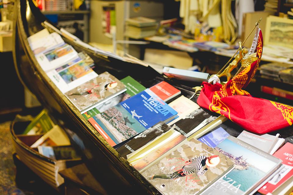 La librairie Acqua Alta de Venise.