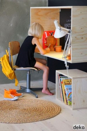 Un coin bureau pratique dans la chambre du p'tit