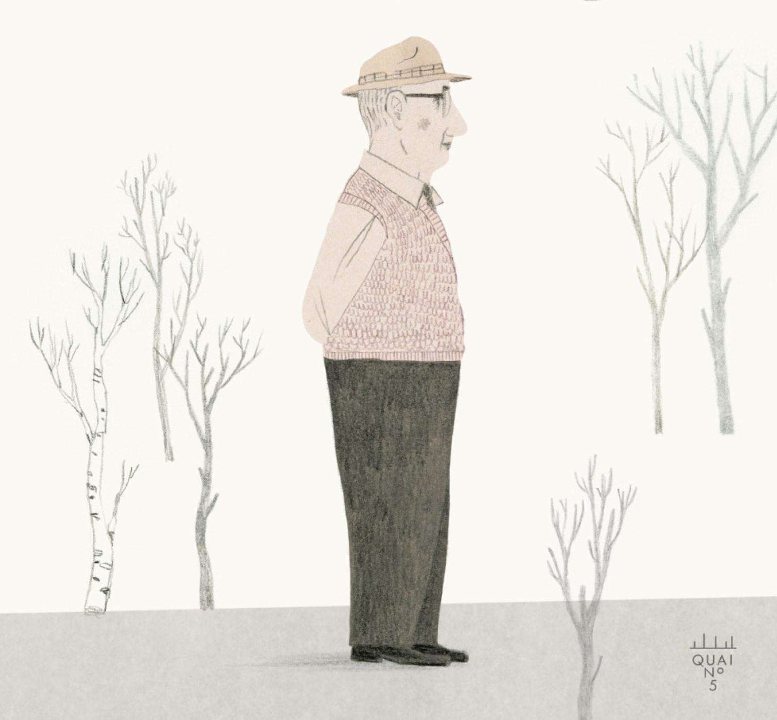 Grand-père et la lune