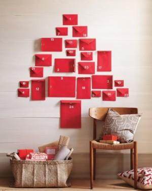 Enveloppes - Calendrier de l'Avent pour patienter jusqu'à Noël