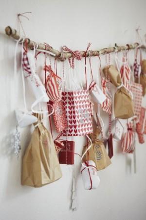 Sacs décoratifs - Calendrier de l'Avent pour patienter jusqu'à Noël
