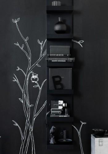 LACK noire verticale - L'étagère IKEA LACK avec 6 casiers !