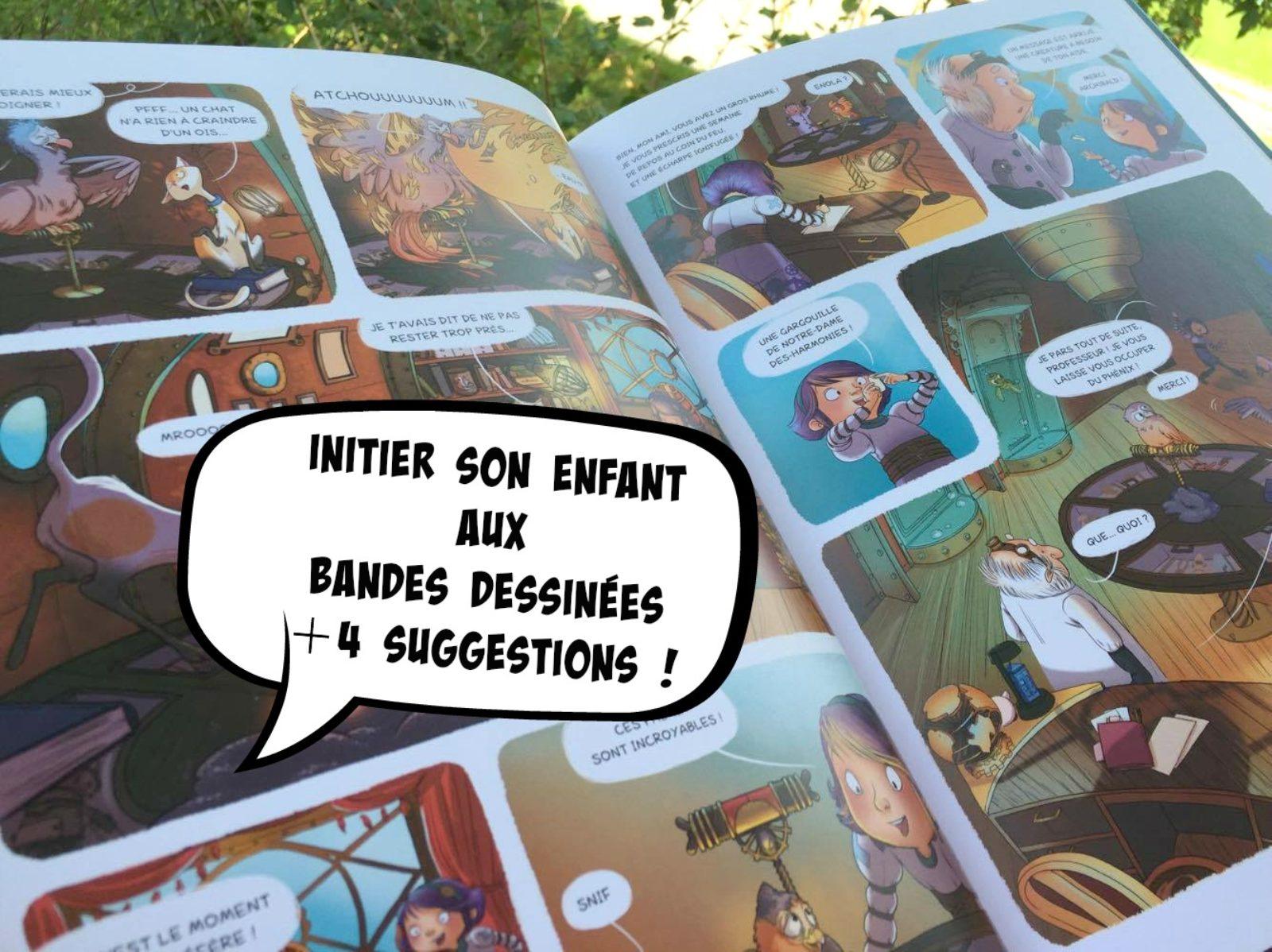 Initier son enfant aux bandes dessinées + 4 suggestions