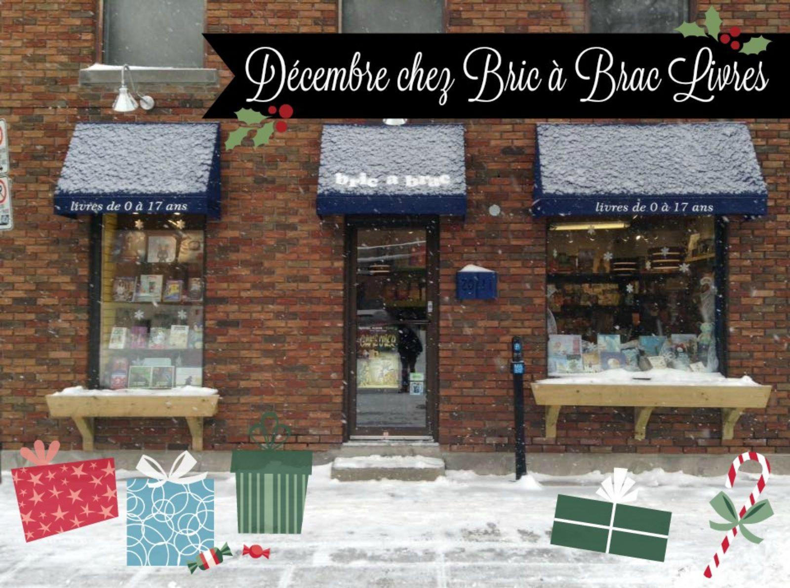 Décembre à la librairie jeunesse Bric à Brac Livres !