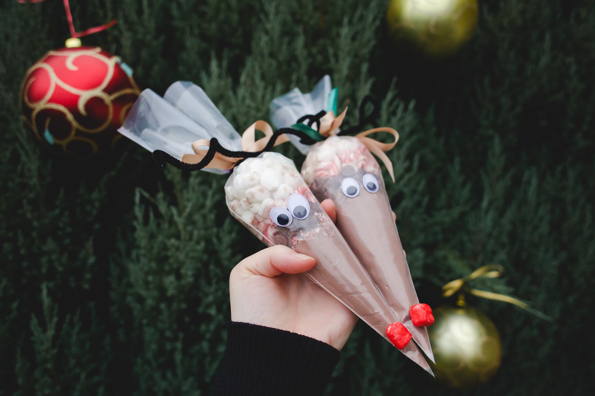 DIY de Noël : Petit renne au nez rouge à siroter !