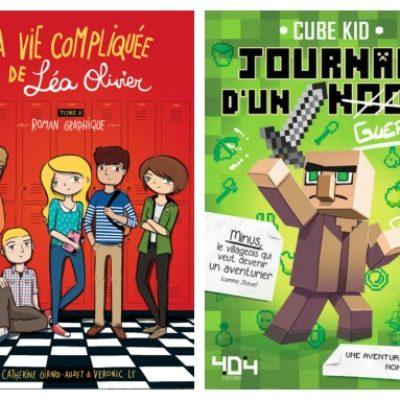 4 séries littéraires suggérées par des jeunes de 4e année !