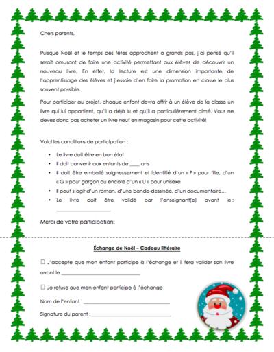 Échange de cadeaux LITTÉRAIRE pour Noël !