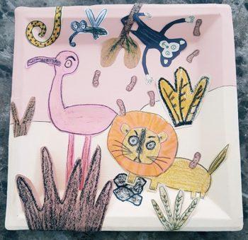 Tempête sur la savane - Projet créatif à la manière de Manon Gauthier