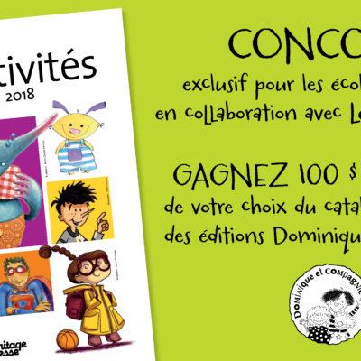 CONCOURS: GAGNEZ 100$ DE LIVRES DES ÉDITIONS DOMINIQUE & COMPAGNIE!