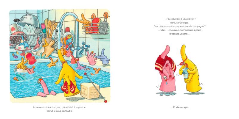 Une histoire d'amour - Au pays des gants de vaisselle - Gille Bachelet