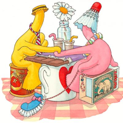 Une histoire d'amour… au pays des gants de vaisselle!