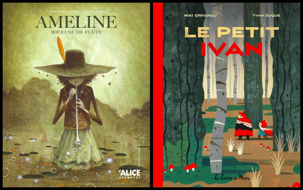 2 albums issus chacun d'un conte: Ameline, joueuse de flûte + Le Petit Ivan
