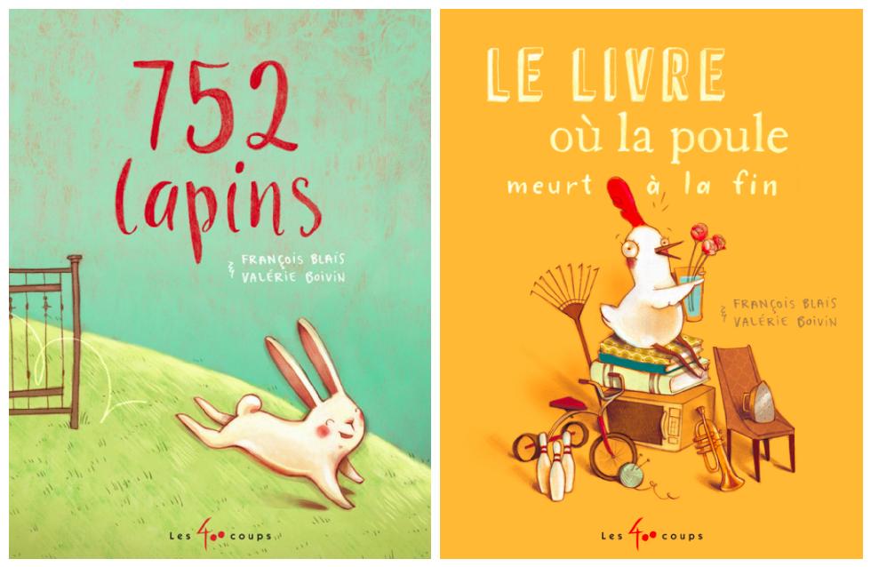 752 lapins & Le livre où la poule meurt à la fin – Des albums décoiffants !