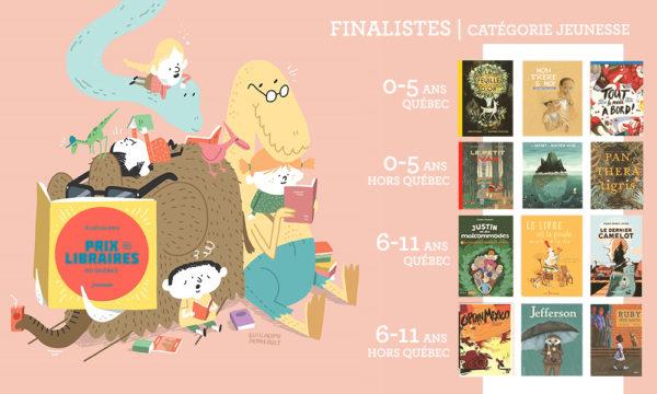 Finalistes Prix jeunesse des libraires du Québec